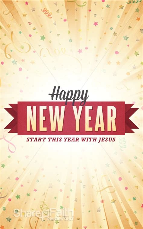 happy  year burst ministry bulletin sermon bulletin