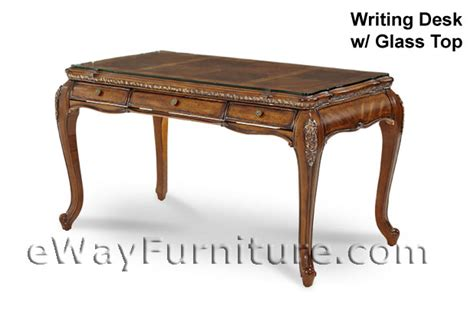 glass top writing desk lavelle melange writing desk with glass top