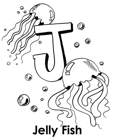 Jellyfish Coloring Pages To Download And Print For Free