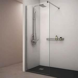 Paroi Vitrée Douche : paroi de douche fixe verre 8 mm 80 cm ~ Zukunftsfamilie.com Idées de Décoration
