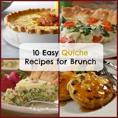 brunch recipes 10 easy quiche recipes for brunch mrfood com