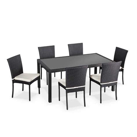 chaises de jardin en soldes salon de jardin en résine tressée 6 chaises table d