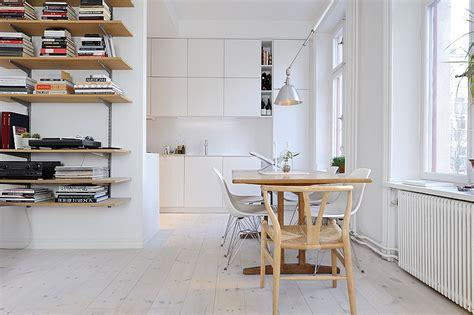 decoracion de monoambientes estilo escandinavo  muebles