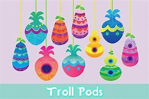 Troll Pods Digital Print Trolls Party Decor