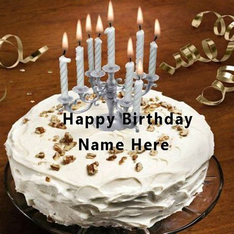 write   happy birthday cake  candle