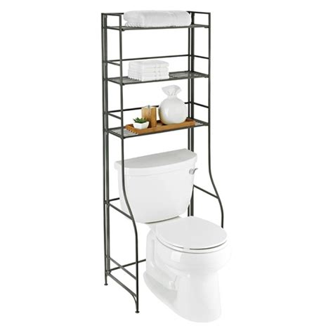 bathroom etagere toilet iron folding bath etagere the container store