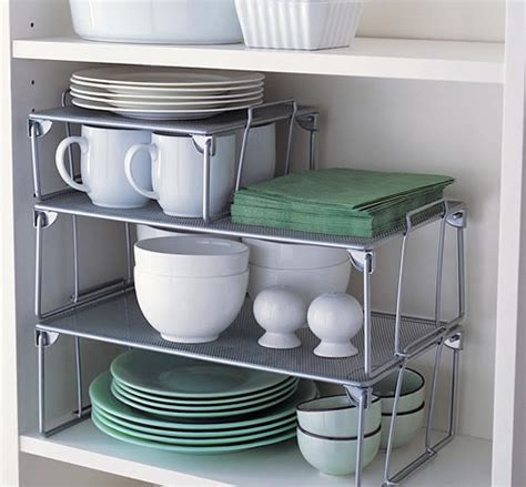 store small mesh stacking shelf