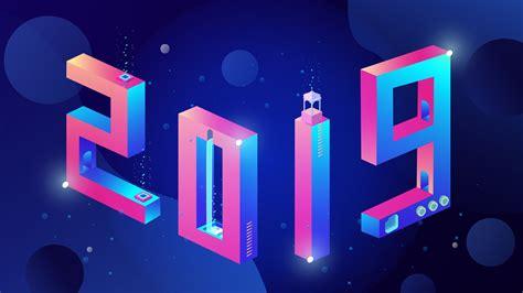 3d Wallpaper Hd 2019 2019 new year 3d design 4k wallpaper hd