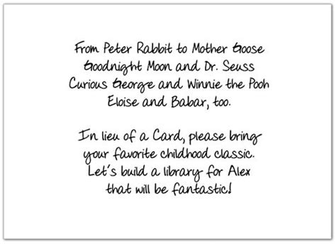 Baby Shower Book Poem - wording for shower invitation insert also to add a