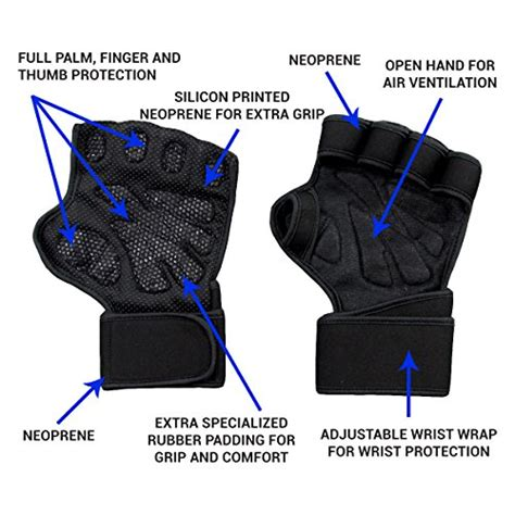 gloves wrist weight lifting wraps kettlebell grip ventilated built palm protection extra guards ups pull finger fingers these