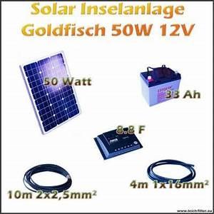 Solar Inselanlage Berechnen : 50w 12v solar inselanlage goldfisch f r boot und garage ~ Themetempest.com Abrechnung