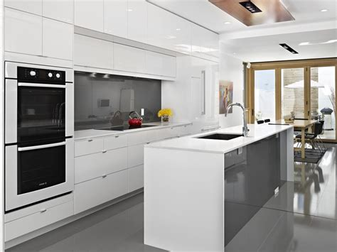 glossy white kitchen cabinets ikea gloss white cabinets kitchen contemporary with deep