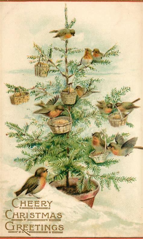 lilac lavender  birds christmas tree