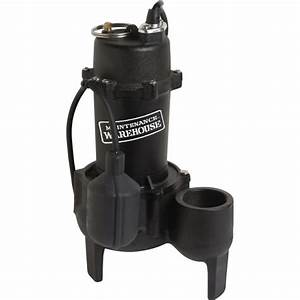 Maintenance Warehouse U00ae 1  2 Hp Cast Iron Sewage Pump
