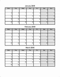 7 best images of 3 month printable calendar online free With three month calendar template word