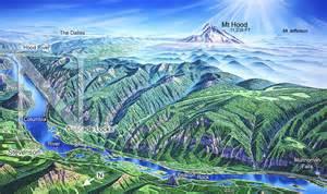 Columbia River Gorge Oregon Map