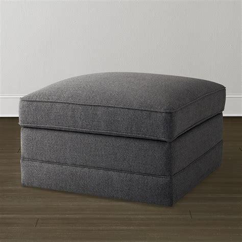Charcoal Gray Storage Ottoman