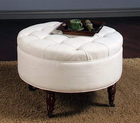 Cloth Ottoman Coffee Table by Furniture Upholstered Cocktail Ottoman Circle Ottoman