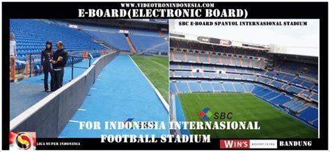 videotron indonesia led parimeter  board  stadiun