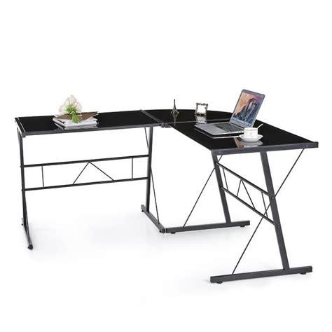 bureau ordinateur moderne ikayaa table d 39 ordinateur de bureau moderne en forme l de