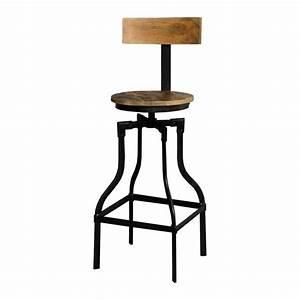 Chaise De Bar Metal : chaise de bar m tal et bois factory mobilier ~ Teatrodelosmanantiales.com Idées de Décoration