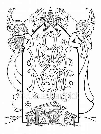 Bible Coloring Nativity Night Kleurplaten Holy Adult