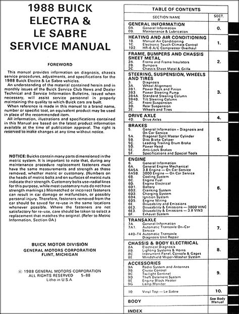 auto repair manual online 1990 buick electra free book repair manuals 1988 buick lesabre electra park avenue repair shop manual original