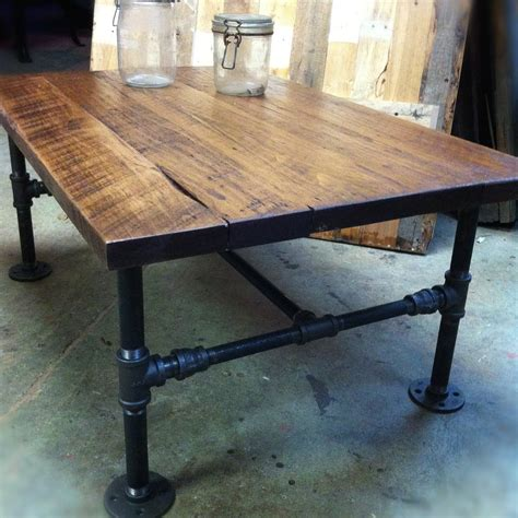 black iron pipe desk industrial cast iron pipe coffee table by jsreclaimedwood