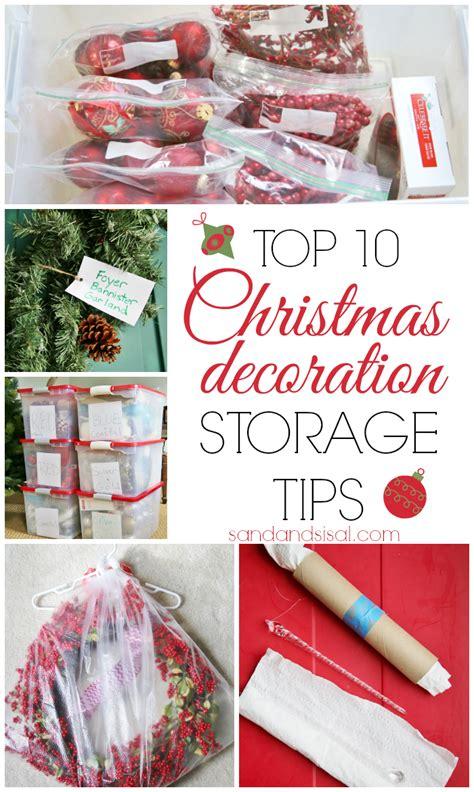 christmas decoration storage tips sand  sisal