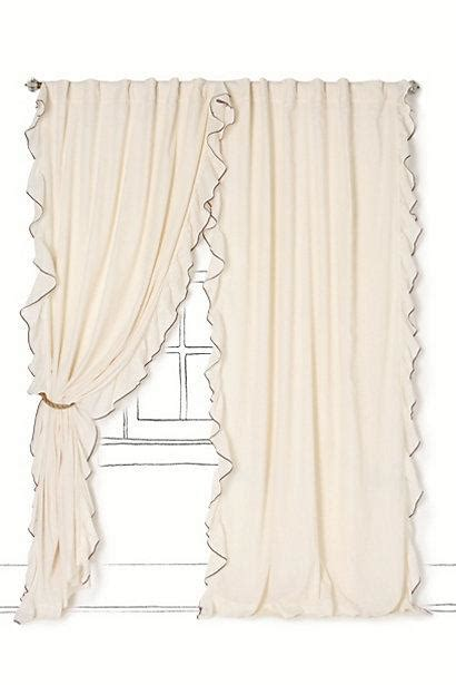airy flounce curtain anthropologie
