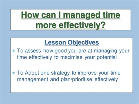 time management  leighbee teaching resources tes