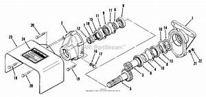Toro 83225  Rear Pto Gear Box  1978 Parts Diagram For