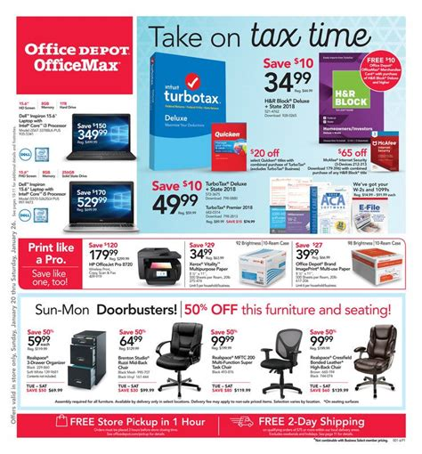 Office Depot Coupons For Technology by Office Depot Weekly Ad Officemax Ad January 20 26 2019