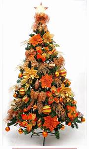 orange christmas tree decorations - Orange Christmas Tree Decorations