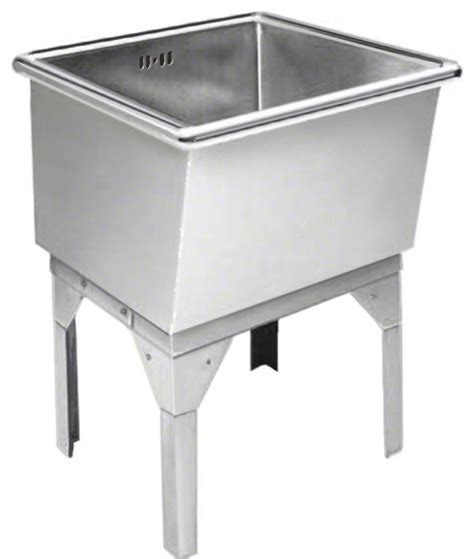 stainless steel freestanding laundry sink just free standing laundry tub 27x27x16 14 gauge