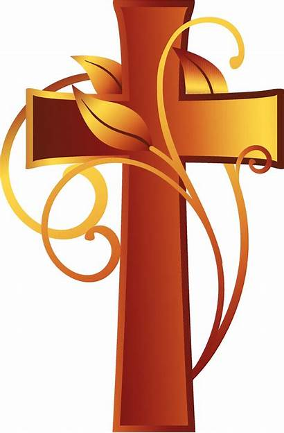 Cross Christian Catholic Clipart Clip Fun Vine