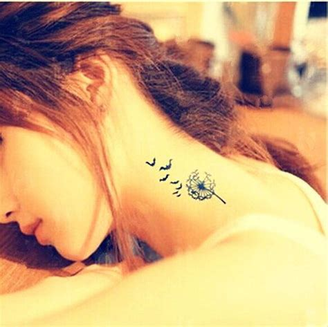 pretty   neck tattoos