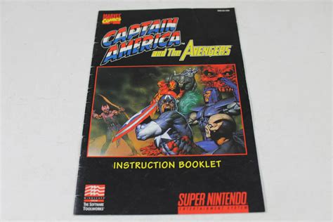 Manual Captain American And The Avengers Snes Super