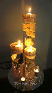 candle wedding centerpieces led orchid cylinder vase glow event decor