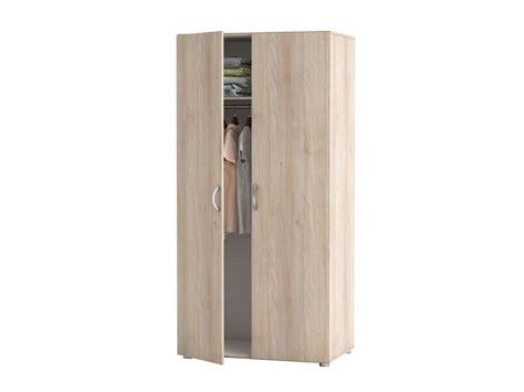 chambre acacia armoire 2 portes zip 2 coloris acacia vente de armoire