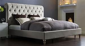 Putnam, Grey, Velvet, King, Platform, Bed, From, Tov