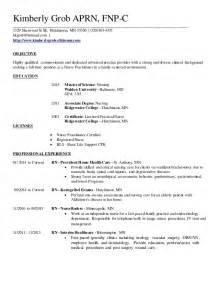 family practitioner resume exle family practitioner resume