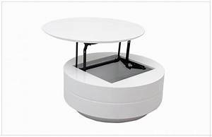 table basse relevable ronde table basse table basse up With delightful maison grise et blanche 17 table basse avec plateau relevable achat vente table