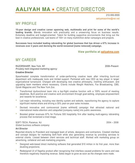 Director Of It Resume Exles by Designer Resume Sles A Collection Of Ideas To Try