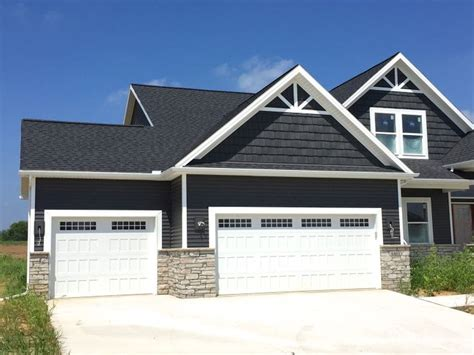decorative gable trim iron royal ironstone grey siding and grey shakes decorative gable accents white trim