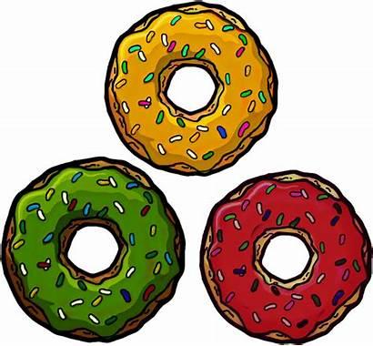 Donut Jaune Rouge Vert Colors Transparent Clipart
