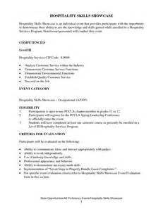sle resume hospitality skills list resume hospitality