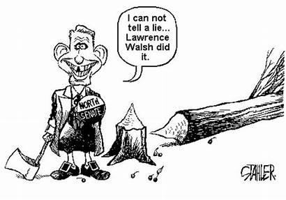 Iran Contra Affair Cartoon Political Scandal Critical