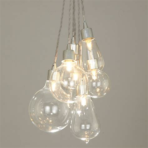 buy john lewis croft collection kinsley glass dangle cluster ceiling light john lewis