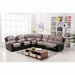 jedd fabric reclining sectional sofa catosferanet With jedd 5 piece fabric reclining sectional sofa